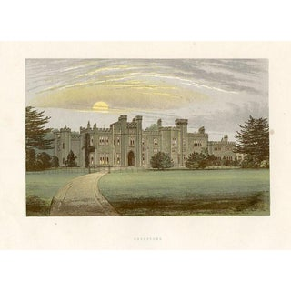 1880s English Manor Home Print, Garnstone For Sale