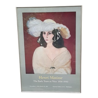 1986 Henri Matisse National Gallery of Art Poster, Framed For Sale