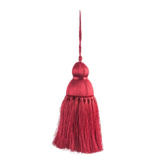 Pyar & Co. Trellis Home Tassel,Burgundy, Medium For Sale
