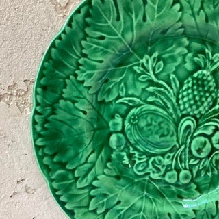 1880 French Green Majolica Fruits Plate Preview