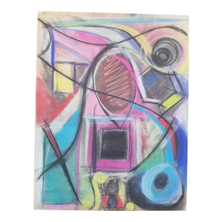 1990s Abstract Pastel Drawing by Terry Frid For Sale