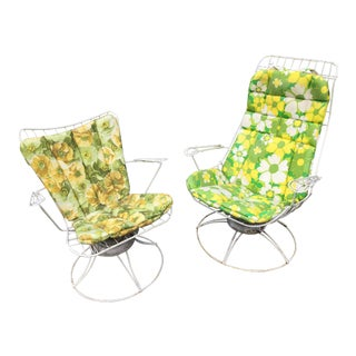 Vintage Homecrest Outdoor Patio Lounge Chairs With Original Cushions - a Pair For Sale