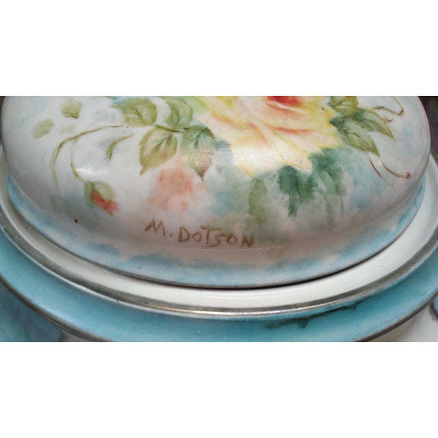 Art Deco Hand Painted Bavarian Porcelain Soup Tureen - Image 7 of 10