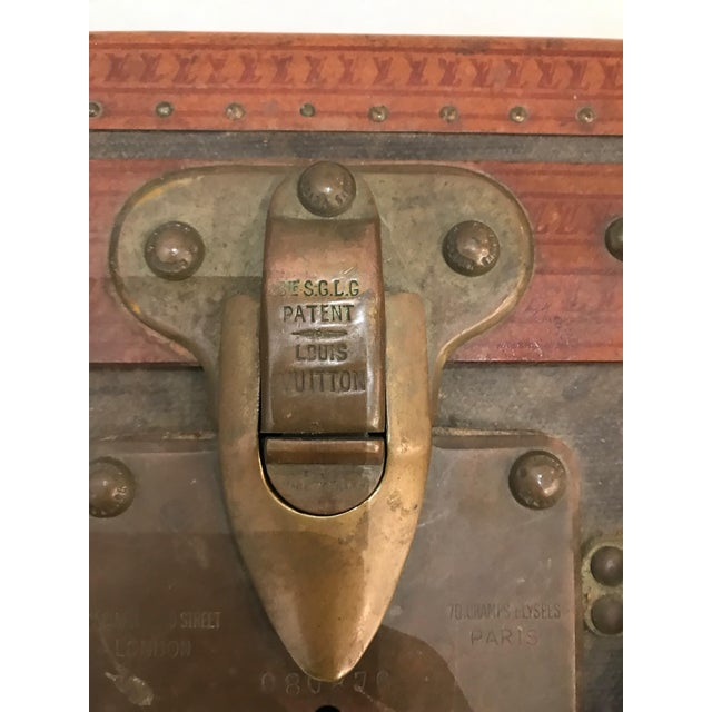 Louis Vuitton Suitcase Trunk With Key For Sale - Image 9 of 13