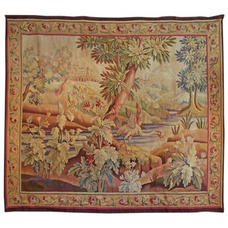 Early 19th Century Antique Aubusson Tapestry For Sale