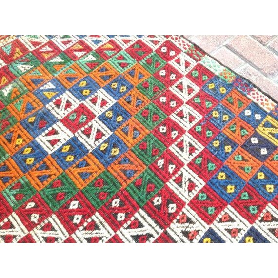 "Vintage Turkish Kilim Rug - 3'2"" x 5'2"" For Sale - Image 5 of 6"