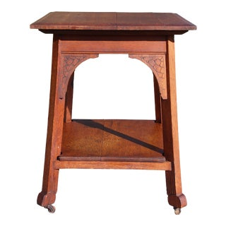 Antique Arts & Crafts Mission Oak Entry Center Occasional Table Craftsman Era For Sale