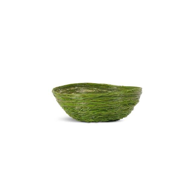 Resin Gaetano Pesce Green Resin Spaghetti Bowl for Fish Design For Sale - Image 7 of 7