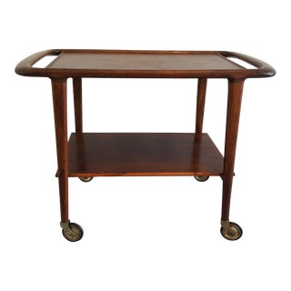 Mid-Century Danish Niels Moller Rosewood Trolley Cart For Sale