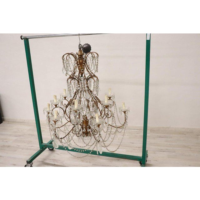 Louis XVI 20th Century Louis XVI Style Gilded Bronze and Crystals Large Luxury Chandelier For Sale - Image 3 of 11