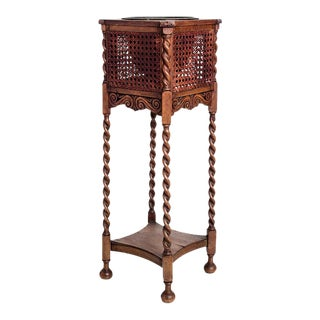 CANED PLANT STAND For Sale