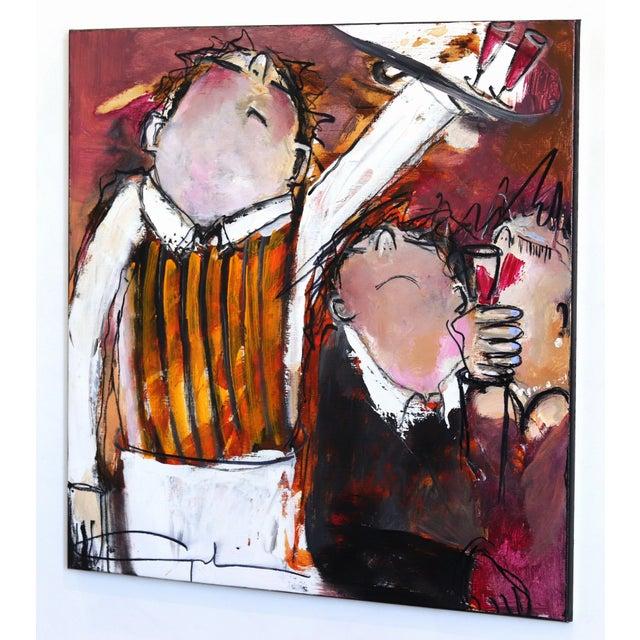 """One More Wine"" Original Artwork by Gerdine Duijsens For Sale In Los Angeles - Image 6 of 9"