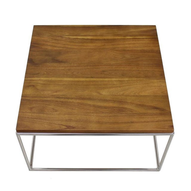 Chrome Cube Nesting End Side Table For Sale - Image 9 of 9