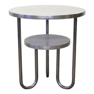 Vintage Art Deco 2-Tier Modern Occasional Table by Wolfgang Hoffmann For Sale