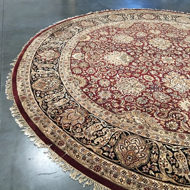 Circular Persian Rug - 14' x 14' - Image 5 of 7