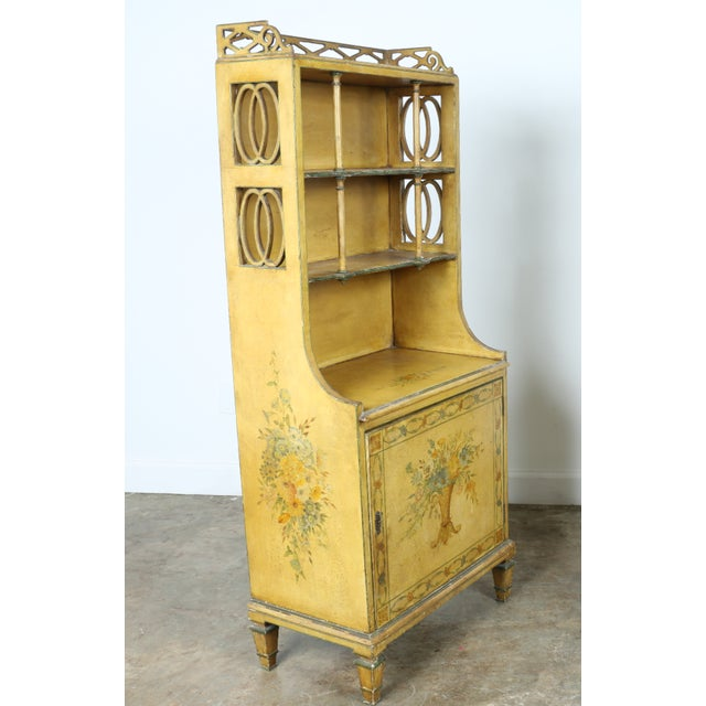 Hand-Painted Yellow Cabinet - Image 8 of 11