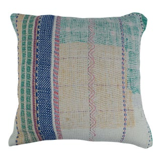 1980s Kantha Quilt Pillow For Sale