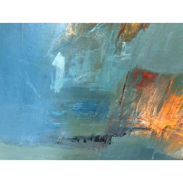 """Abstract """"Unconscious Echo"""" Abstract Painting on Canvas For Sale - Image 3 of 4"""
