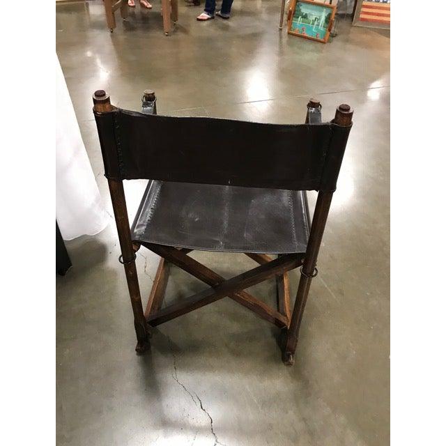 Rud Rasmussen 1930s Vintage Mogens Koch Danish Modern Collapsible Safari Chair For Sale - Image 4 of 7