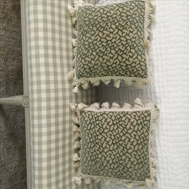 Transitional Fringed Pillows - Pair - Image 4 of 6