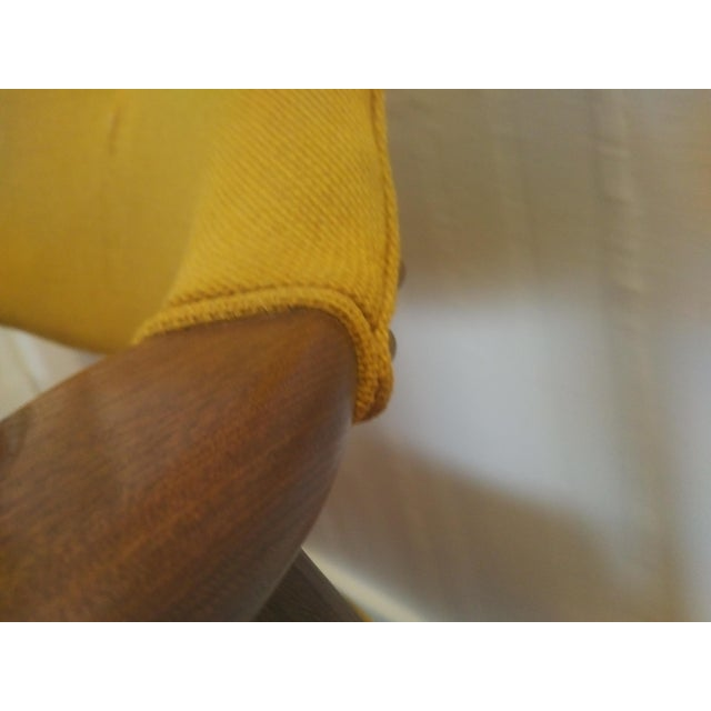 Wood 1960s Danish Modern Paoli Yellow Padded Chair For Sale - Image 7 of 11