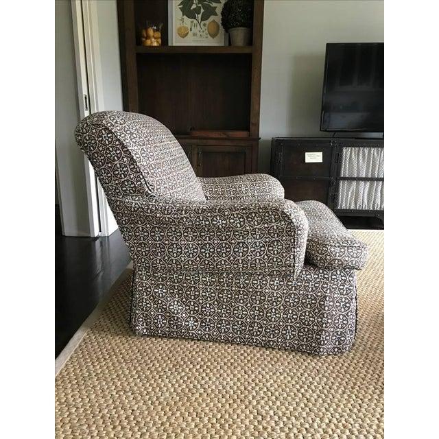 Lee Industries Designer Club Chairs - Pair - Image 4 of 5