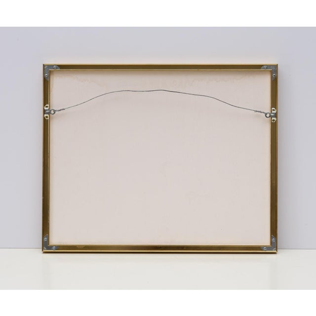1990s Framed Collage Woven Paper Ribbon Wall Art For Sale - Image 5 of 6