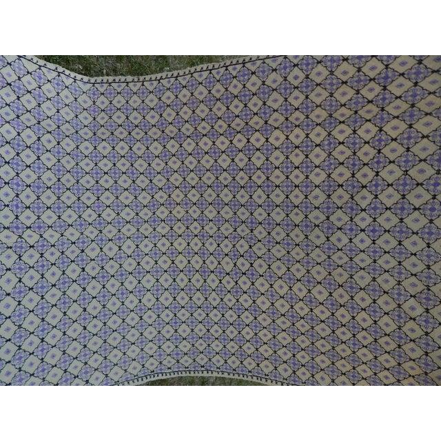 "Vintage Turkish Jajim Flat Weave Rug 4'9"" X 8' For Sale - Image 11 of 13"