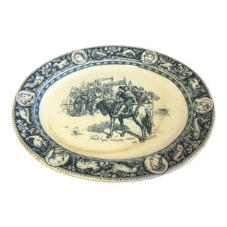 Antique Blue & White English Platter