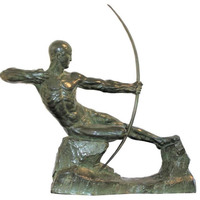 Art Deco Bronze Sculpture Hercules the Archer by Victor Demanet 1925 For Sale - Image 13 of 13