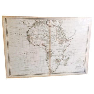 Vintage 1791 d'Anville Map of Africa For Sale