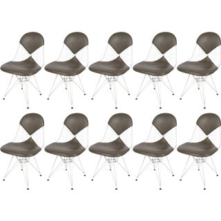 Set of Ten Eames Dkr Chairs for Herman Miller For Sale