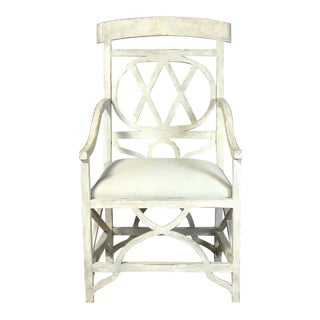 Mid-20th Century Regency Style Sculptural Armchair For Sale