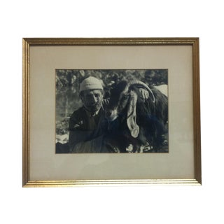 """Circa 1970 """"Best Friends"""" Figurative Black and White Photograph, Framed For Sale"""