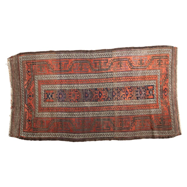 "Antique Belouch Rug Runner - 3' x 5'8"" For Sale"