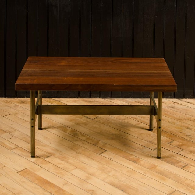 """Contemporary Gratz Industries Contemporary """"Terenia"""" Walnut Top Console Table For Sale - Image 3 of 6"""