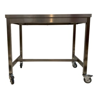 Vintage Design Within Reach Quovis Stainless Steel Cart For Sale