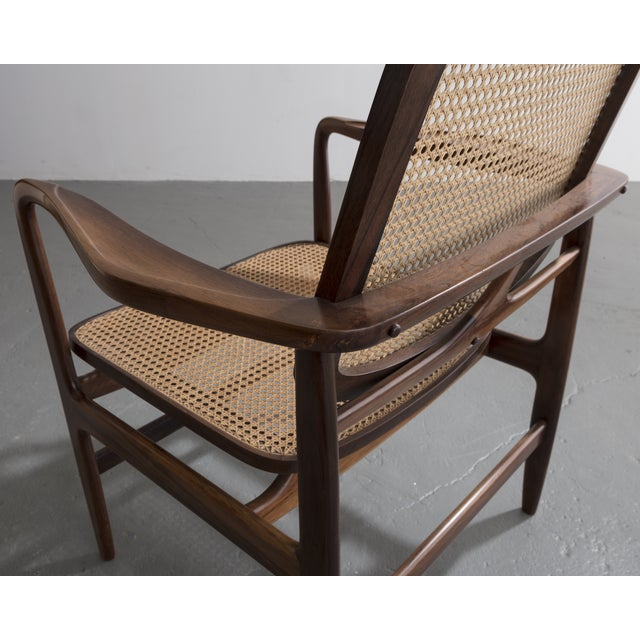 "1950s ""Poltrona Oscar"" chair by Sergio Rodrigues, Brazil, 1958. For Sale - Image 5 of 9"