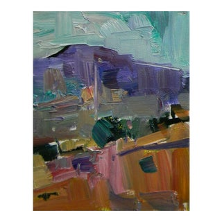 Jose Trujillo - Oil Painting 8x10 Impressionism Desert American Art Fauvism Hill For Sale