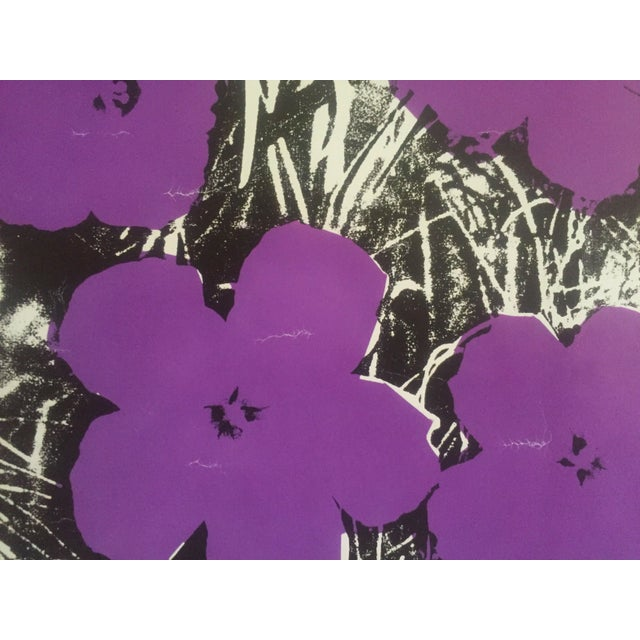 """Andy Warhol Foundation Vintage Pop Art Poster Print """" Flowers """" 1964 / 1967 For Sale In Kansas City - Image 6 of 13"""