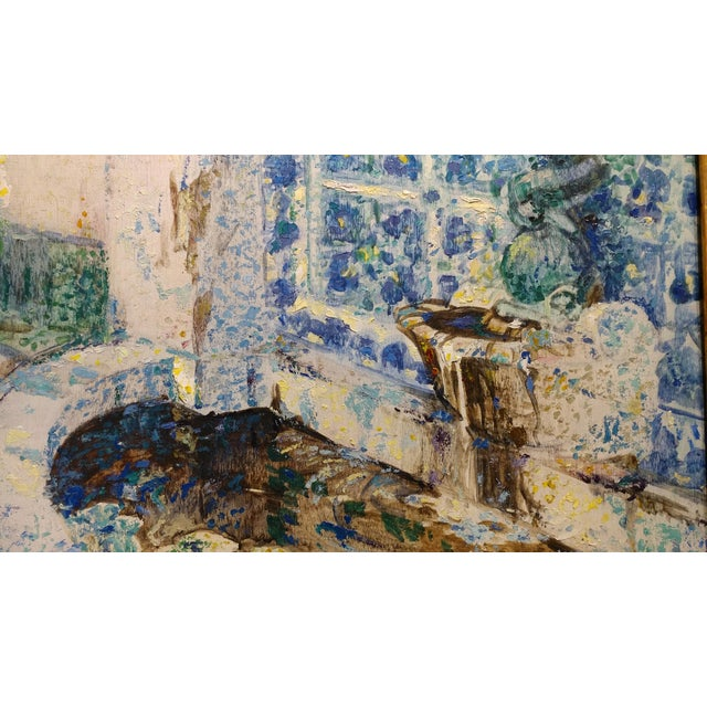 Impressionism Douglass Parshall - Tiled Fountain -Oil Painting - California Impressionist For Sale - Image 3 of 10