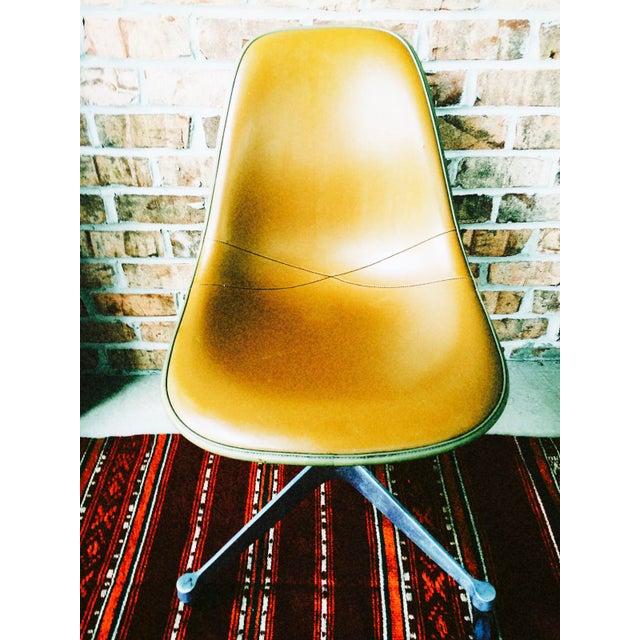 Herman Miller Eames Upholstered Fiberglass Shell Chair - Vintage - Image 6 of 8
