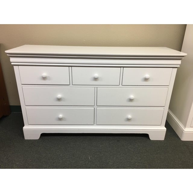 Stanley Young America White 7 Drawer Dresser Chairish