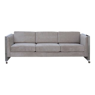 Milo Baughman Style Sofa by Selig of Monroe For Sale