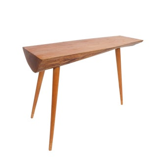 Walnut Wood End Table in the Style of George Nakashima, 1950 For Sale