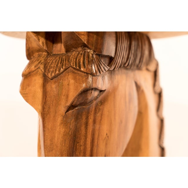 Billy Haines Style Horse Head Game Table and Seats - Image 10 of 11