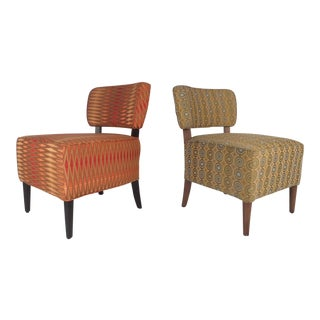 Contemporary Modern Slipper Lounge Chairs - A Pair