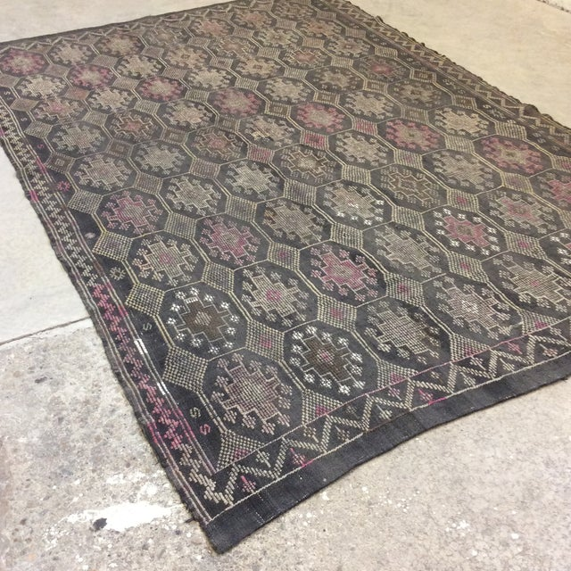Great Turkish Kilim in exceptional vintage condition. You cannot kill these rugs. I like this one particulary for the 50...