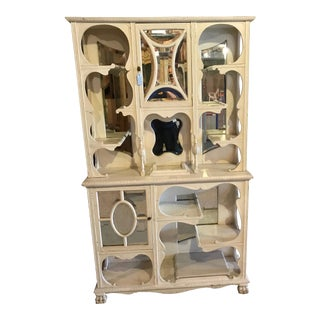 Shabby Chic Raleigh Beveled Hutch For Sale