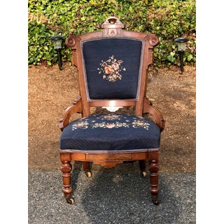 Late 19th Century Victorian Eastlake Needlepoint Side Chair Preview